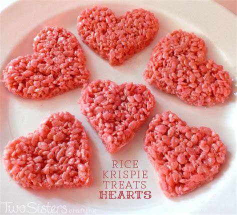 valentines day rice krispie treats rice krispie treats two crafting