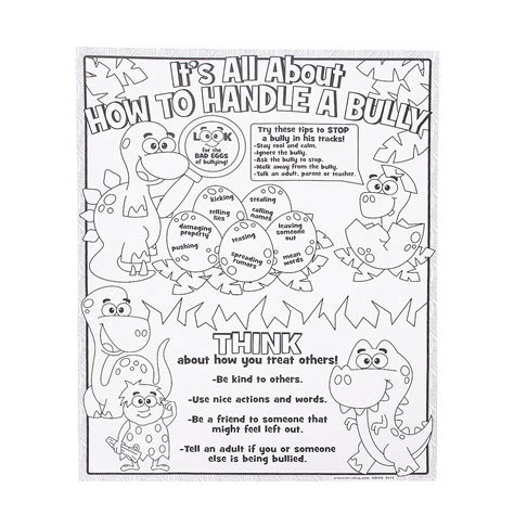 printable bullying bookmarks color your own all about anti bullying posters oriental