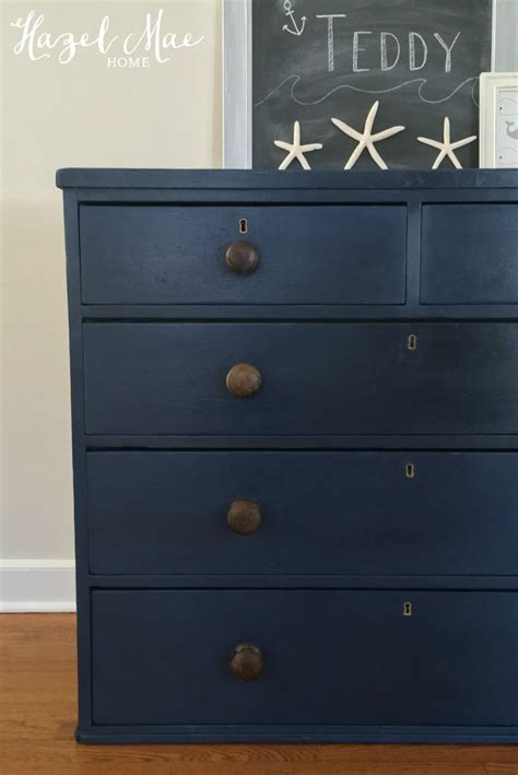boys bedroom dresser annie sloan napoleonic blue dresser with original knobs by hazel mae home hazel mae home
