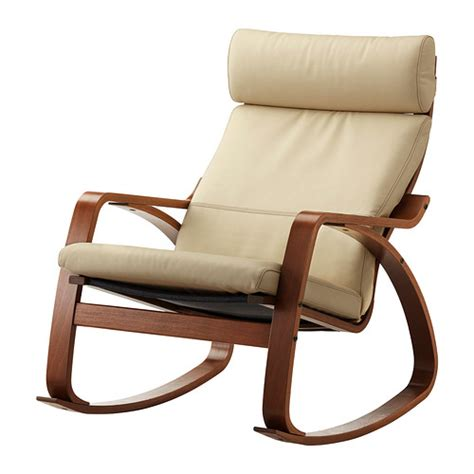 Poang Rocking Chair by Po 196 Ng Rocking Chair Glose White Medium Brown