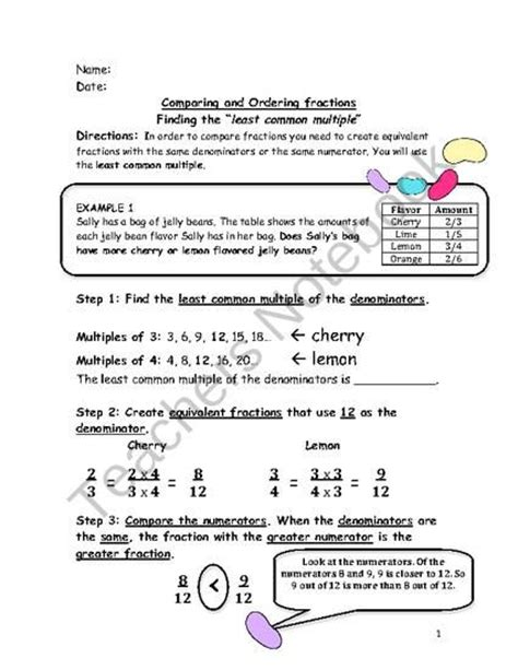 Least Common Worksheet by Least Common Greatest Common Factor And Least