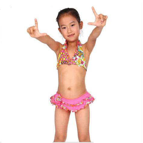 pimpandhost models 6 2015 free shipping hot sell children girls split swimsuit