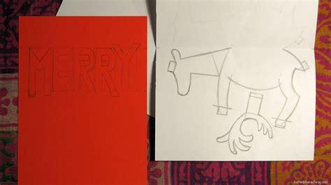 Reindeer Pop Up Card Template by Pop Up Cards Patterns 171 Design Patterns