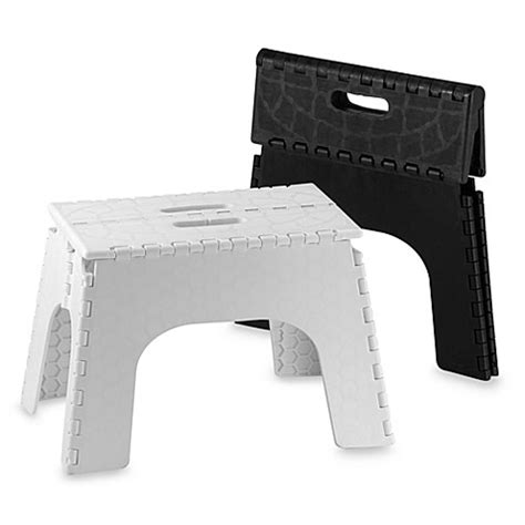 Bed Bath And Beyond Folding Stool by Ez Foldz 12 Inch Folding Step Stools Bed Bath Beyond