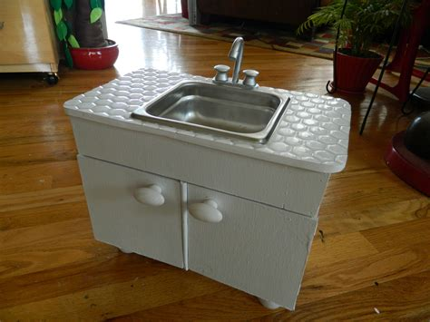 18 inch doll bathroom sink doll house sink cabinet and the first food items on my