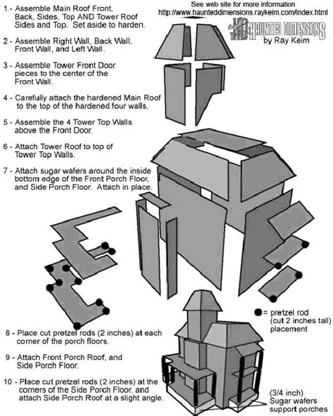haunted house template haunted house template crafts putz and paper houses