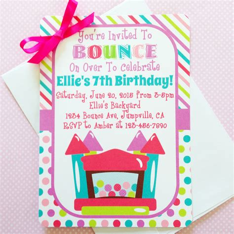 printable jump birthday invitations printable bounce house birthday invitation printable bounce