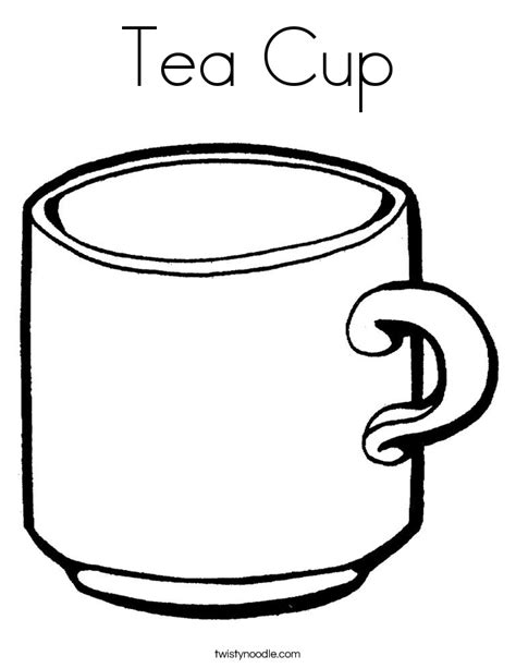 tea cup coloring page twisty noodle