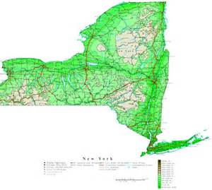 New York Topographic Map by New York Contour Map