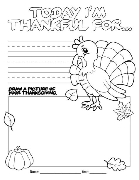 printables free thanksgiving kids activities coloring