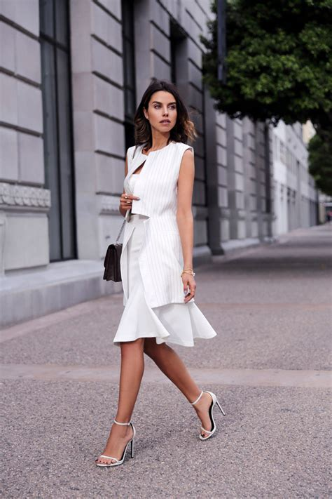 all white outfits shopstyle 4 fashionable ways to wear white on white trend glam radar
