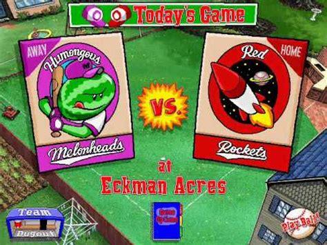 backyard baseball videos backyard baseball gameplay youtube