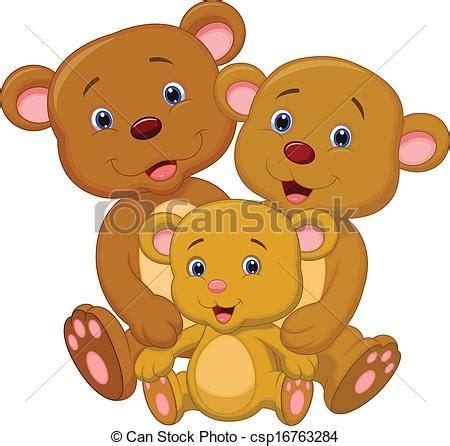 imagenes de la familia de osos vector de oso familia caricatura vector ilustraci 243 n