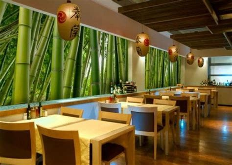 restaurants decor ideas small restaurant interior design ideas with bamboo wall