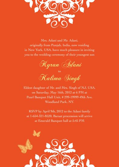 Free Indian Wedding Invitation Card Samples