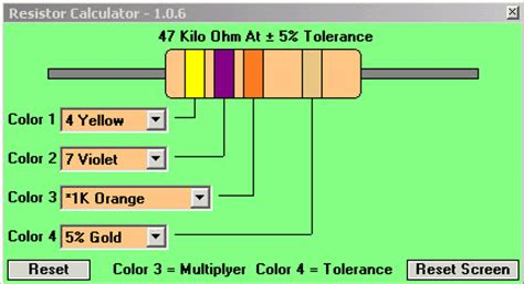 resistor color calculator software resistor color code calculator circuits4you 28 images electronics for absolute beginners