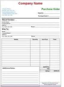 Purchase Order Template Microsoft Excel by 7 Format Of Purchase Order Template In Word Excel Doc