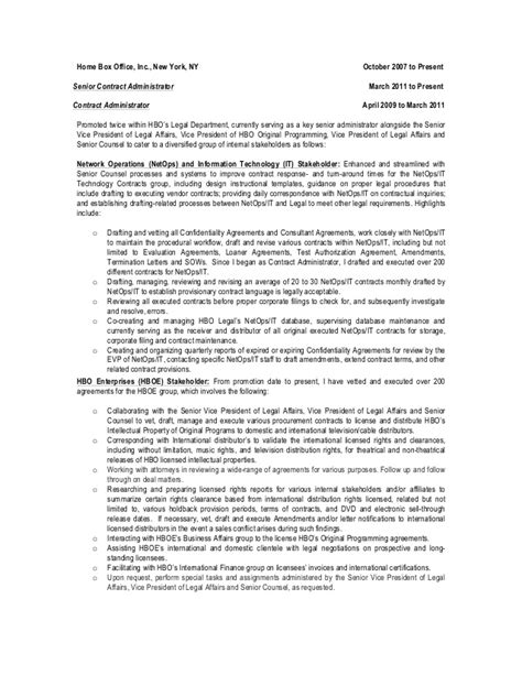 Contract Administration Description by Contract Administrator Description Administration Description Template Emergency