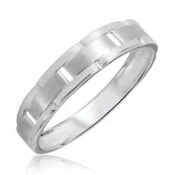 mens white gold wedding rings traditional mens wedding band 14k white gold my trio rings bt313w14km