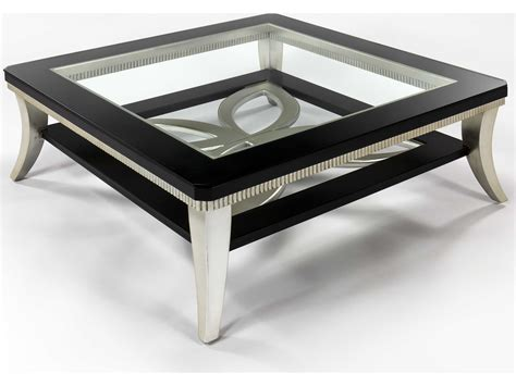 Coffee Table Silver Artmax 42 X 16 5 Square Black Espresso Silver Leaf Coffee Table Amx1980cf