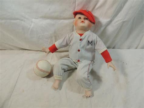 doll baseball small porcelain baseball player doll
