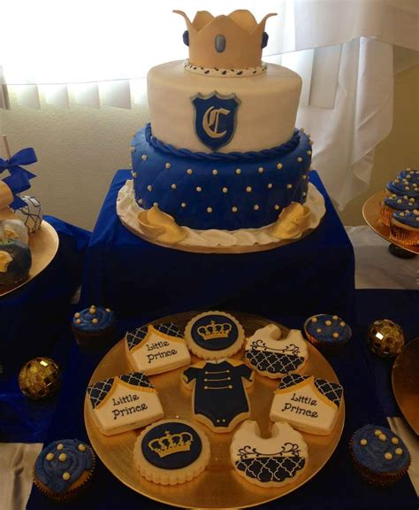 Royal Blue And Gold Baby Shower Ideas by Royal Prince Baby Shower Ideas Cakes Ideas And