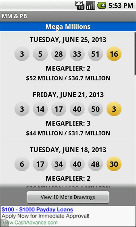 section 8 lottery results mega millions powerball android apps on google play