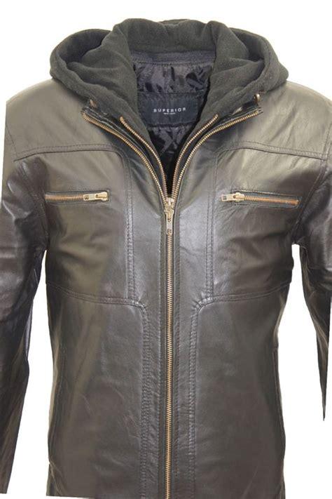 design leren jas leather palace heren leren jas met capuchon