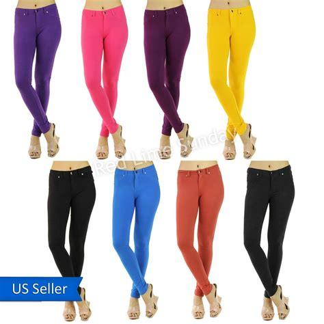 color jeggings womens hardon clothes