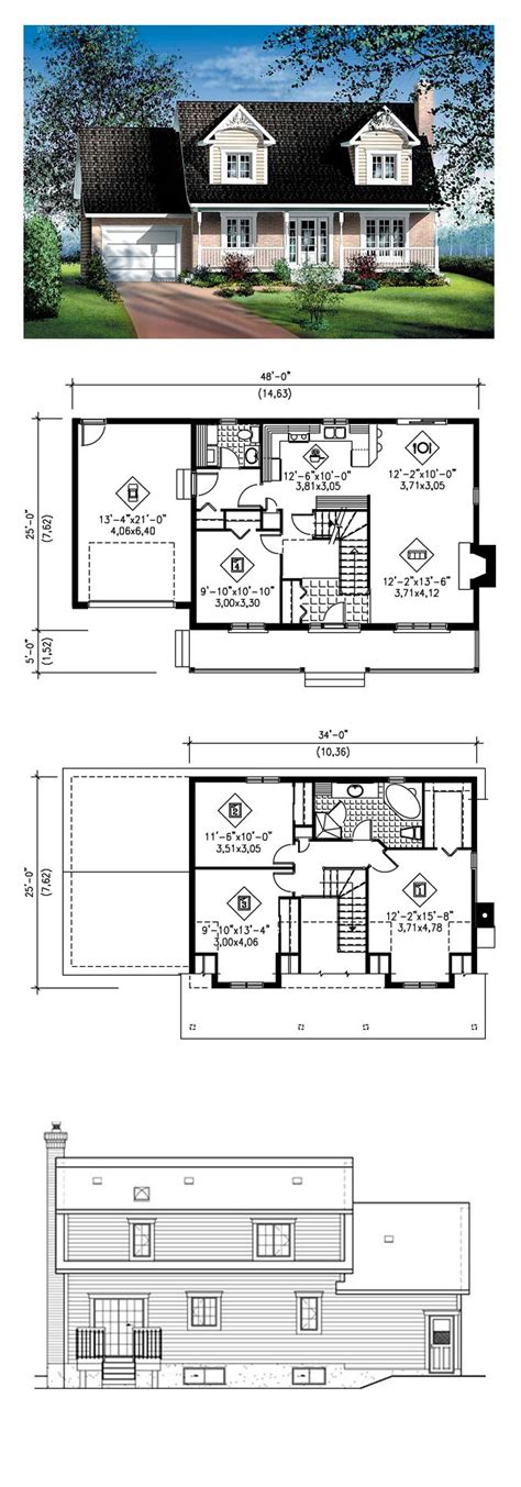 cape house floor plans cape cod house plan 49687 total living area 1564 sq ft