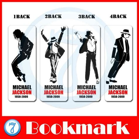 printable michael jackson bookmarks 8sets lot wholesale special beauty bookmarks card about