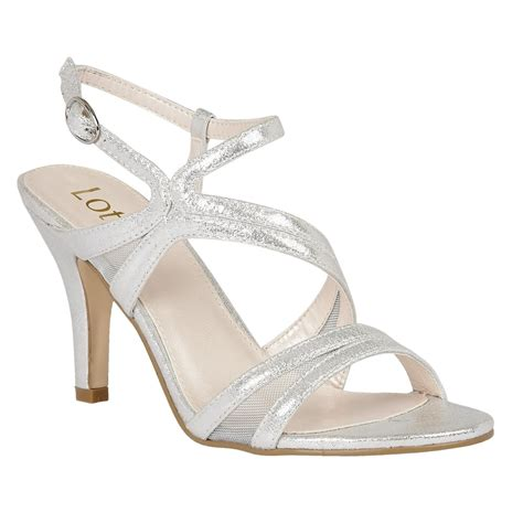 strappy silver sandals lotus hendren silver shimmer strappy sandals sandals