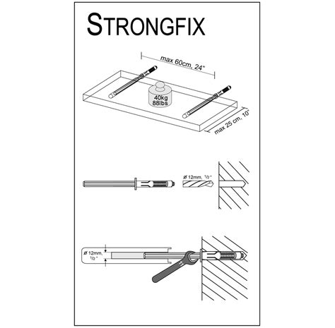Strongfix floating shelf bracket bluestoneshelves com