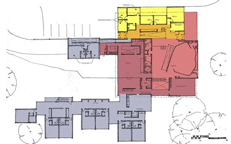 community center floor plan university s jesuit community center overhauls ecological