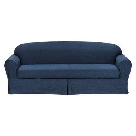 denim couch covers denim slipcover sofa smalltowndjs com
