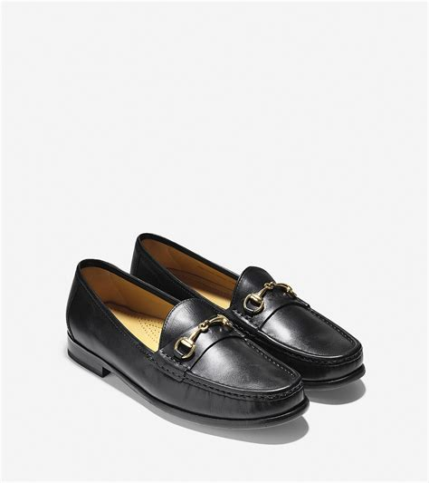 cole han loafers cole haan ascot bit loafer in black for lyst