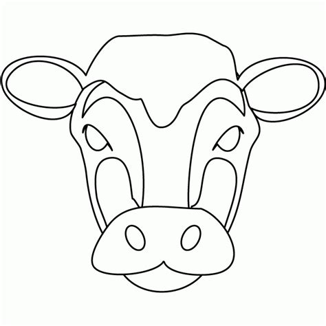cow ears coloring page easy cow head coloring coloring pages
