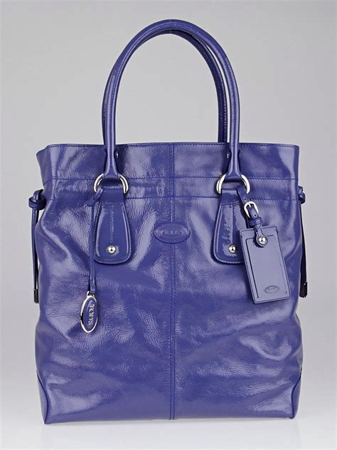 Tods New D Bag Media by Tod S Purple Patent Leather New Restyling D Bag Vertical