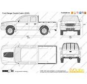 The Blueprintscom  Vector Drawing Ford Ranger Double Cabin