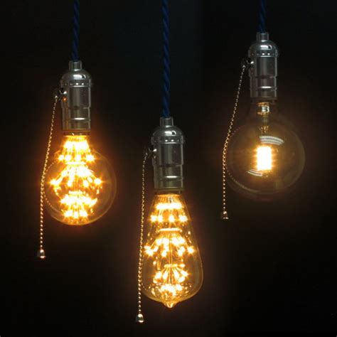 edison bulb pendant light led edison bulb pendant light e27 squirrel cage filament