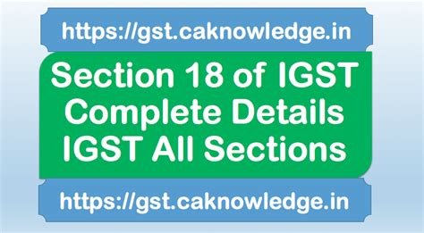 section 18 equality act section 18 of igst transfer of input tax credit under
