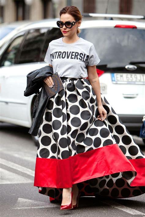 Mellan Fashion Maxi Polka Godwin 83 epic style photos from milan ss14