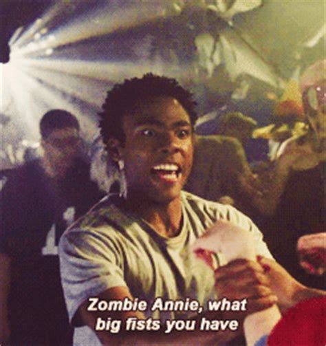 childish gambino zombies download donald glover community gif find share on giphy