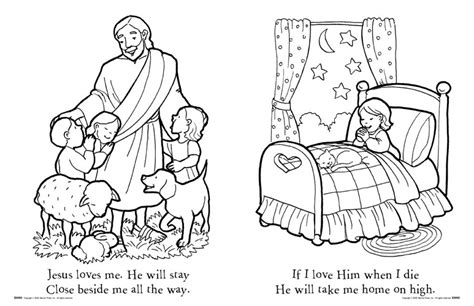 jesus loves the little children coloring pageskids