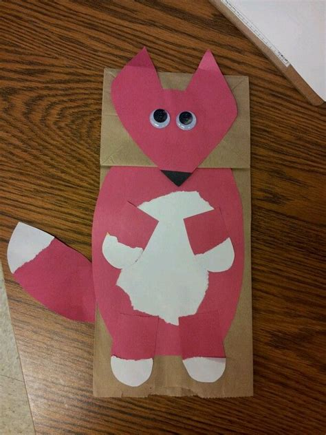 How To Make A Paper Fox Puppet - bags paper and paper bag puppets on