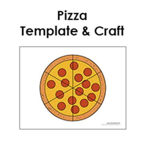 pizza template free blank pizza template printable pizza craft for