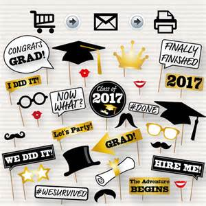 graduation photo booth printable props 2017 graduation