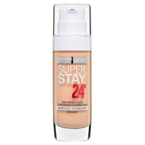 Foundation Maybelline Superstay morrisons maybelline superstay 24h foundation 30 sand 30ml product information