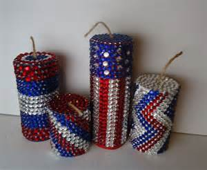 4th of july crafts how to make jeweled firecracker decorations