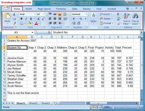 Tutorial Ms Excel microsoft excel 2007 tutorial home tab softknowledge s